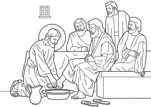 Jesus Washes Feet of the Disciples