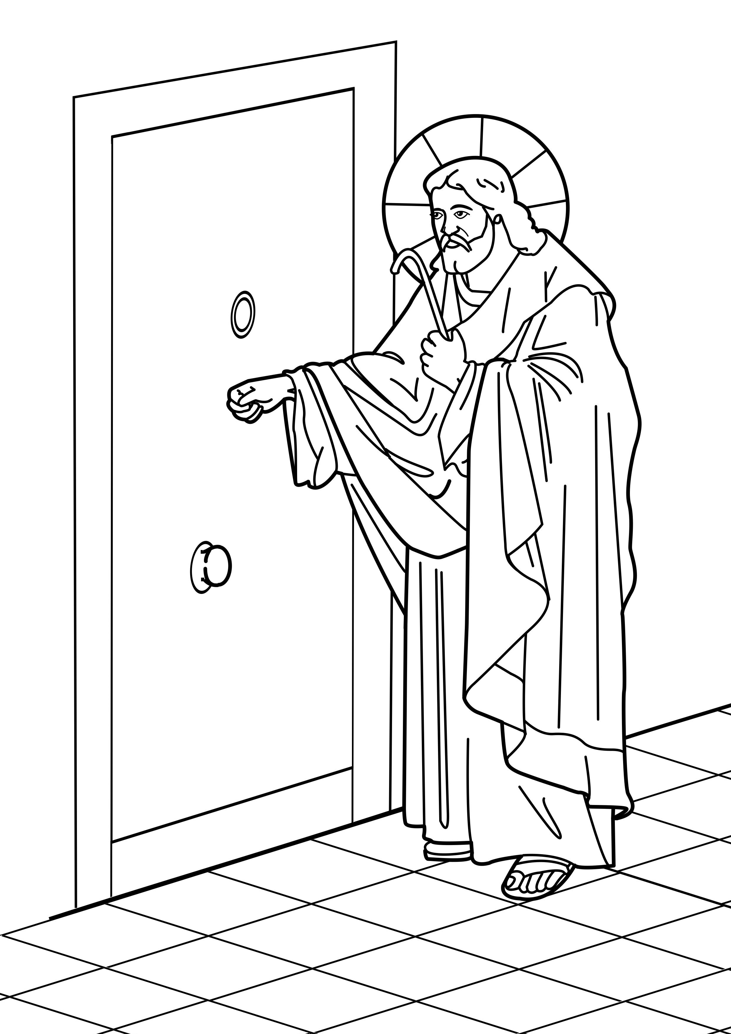 coloring pages of jesus standing - photo#21